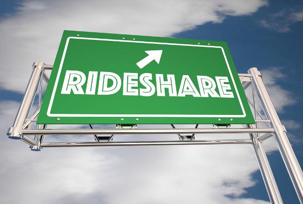 rideshare sign