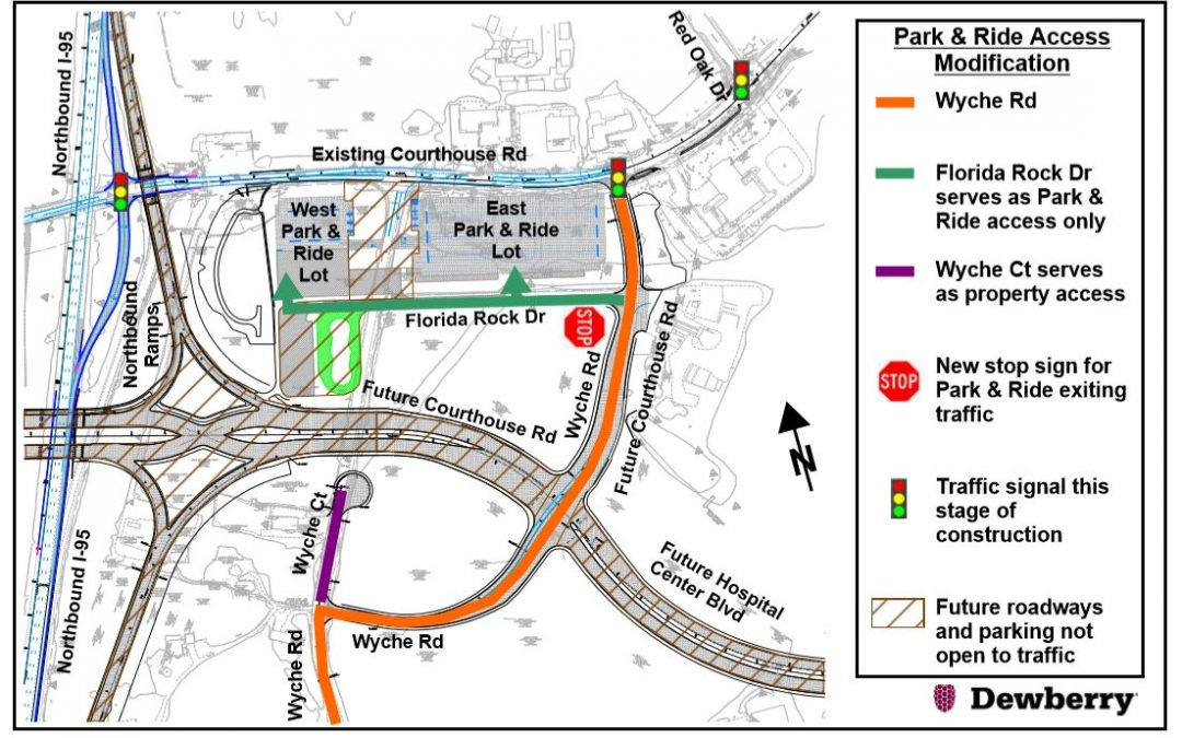 Park & Ride Access Changes–Courthouse Road